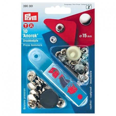 Anorakkinepparit 15mm + työkalut