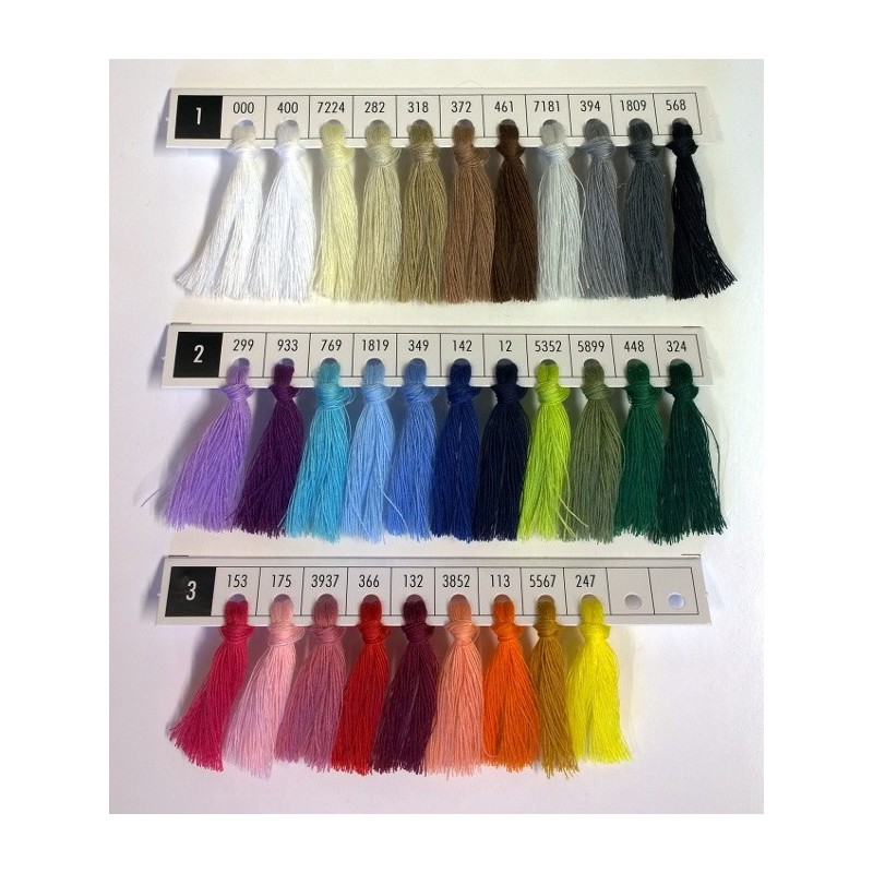 Ompelulankalajitelma 31 väriä